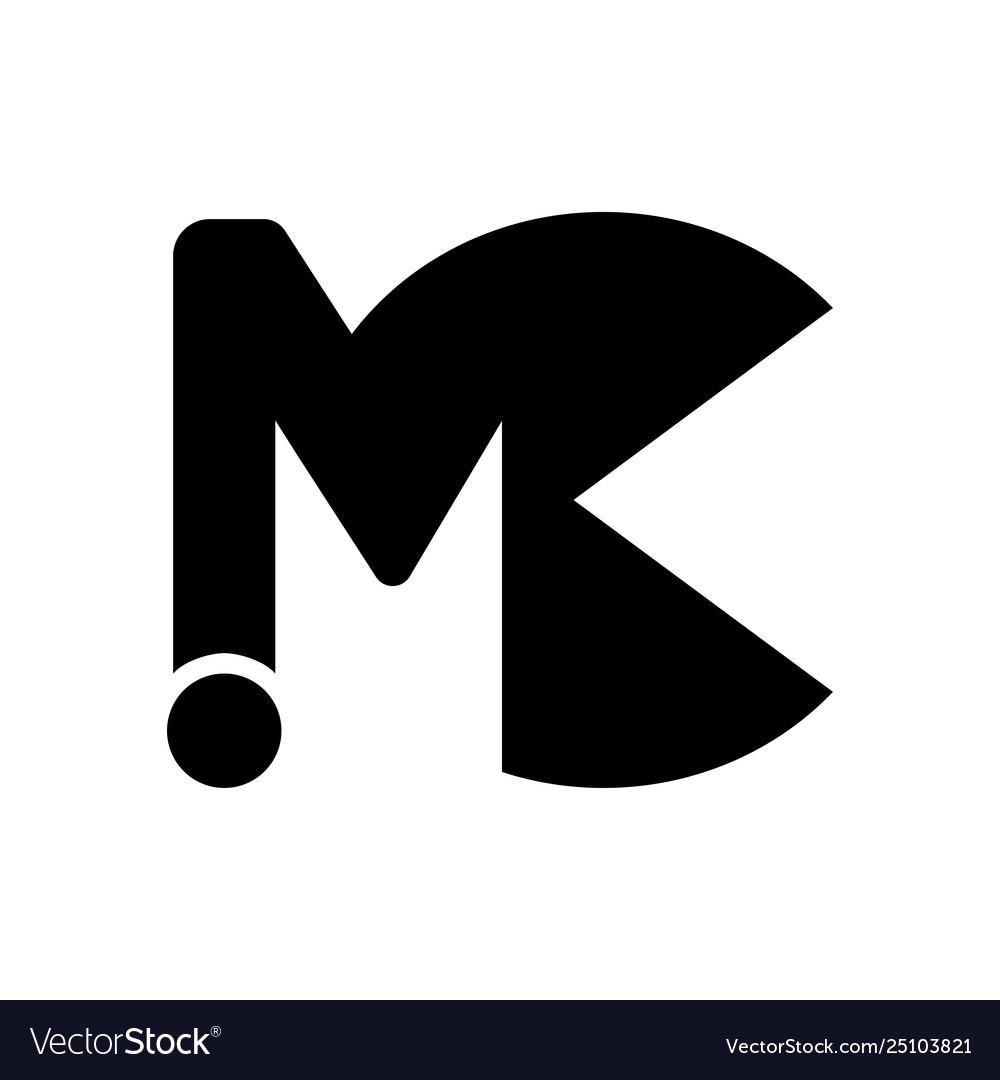 Initial letter logo mc modern font maker design.