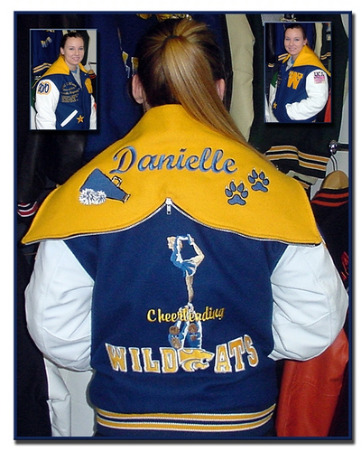 School letter jacket clipart.