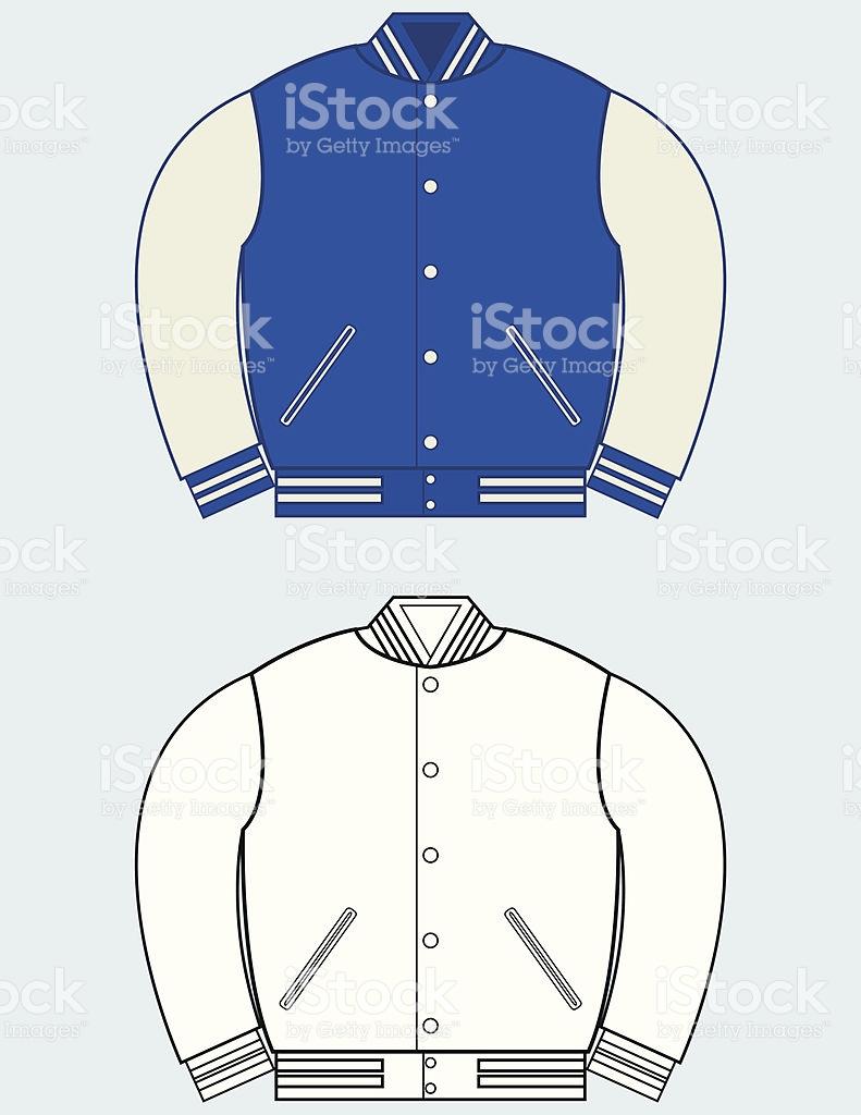 Varsity jacket clipart.