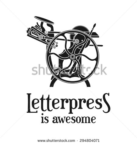 Letterpress Stock Photos, Royalty.