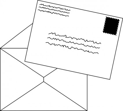 Clipart mail letters.