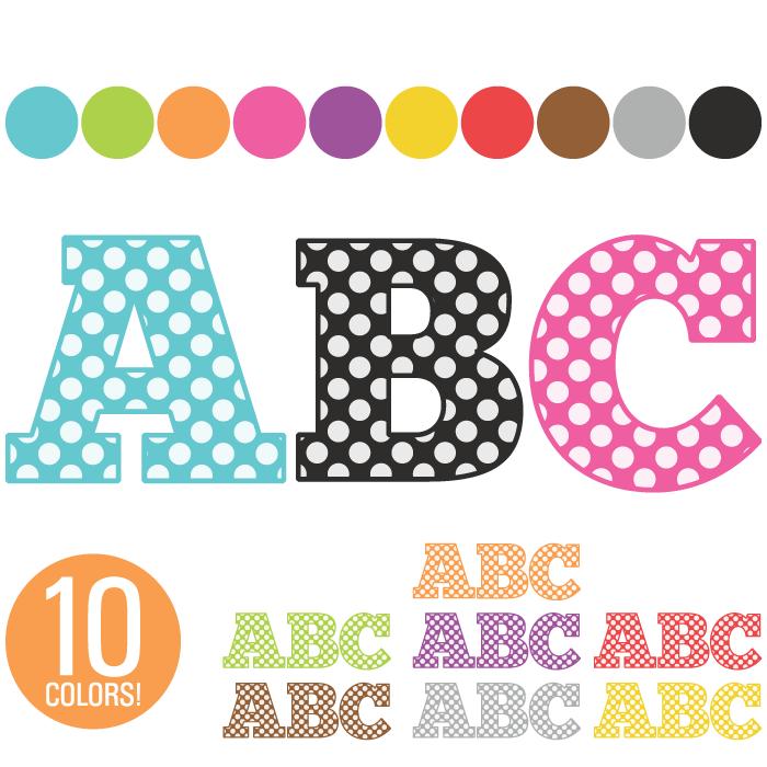 Individual Alphabet Letters Clipart.