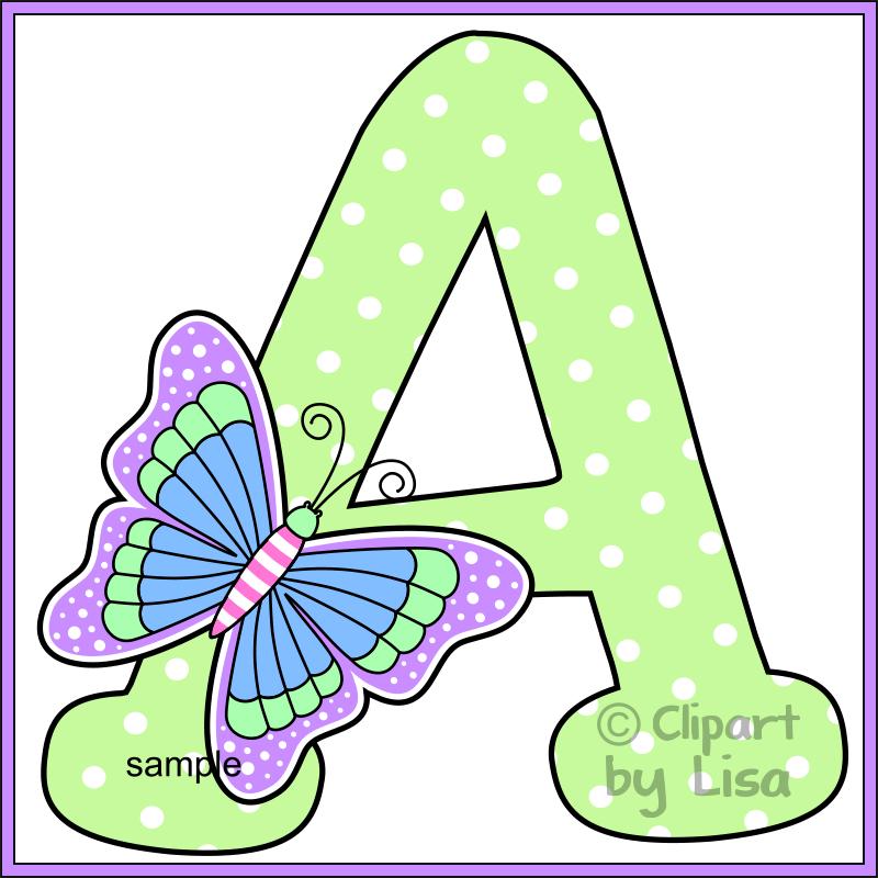Alphabet letters clipart 4.