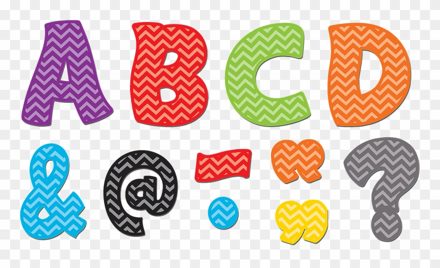 Chevron Funtastic Font 3 Magnetic Letters Tcr77213.