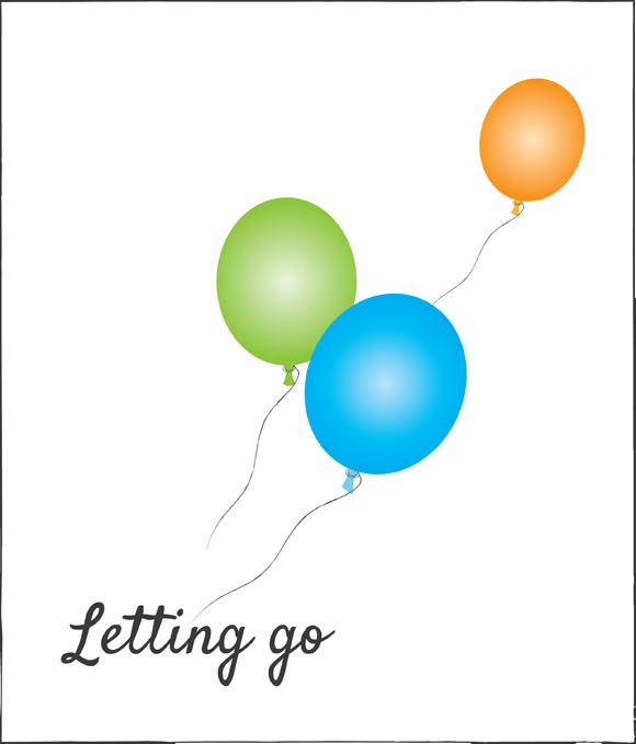 Letting Go Balloon Clip Art.