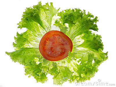 Lettuce and tomato clipart.
