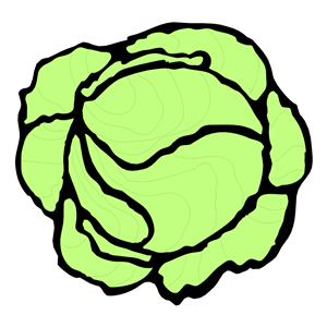 Cartoon lettuce clipart.