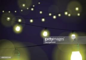 Gelb, Weihnachten, Party Leuchtende Lichter Hintergrund stock.