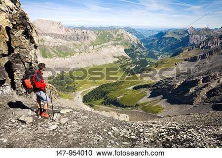 Stock Photography of Walking Near Leukerbad, Wallis, Switzerland.