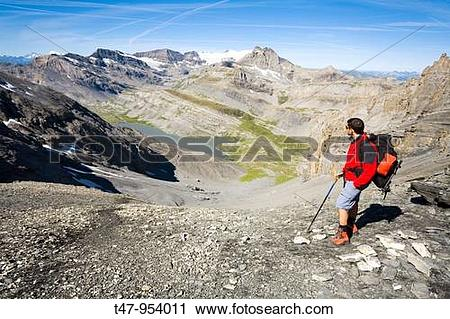 Stock Photography of Walking Near Leukerbad, Wallis, Switzerland.