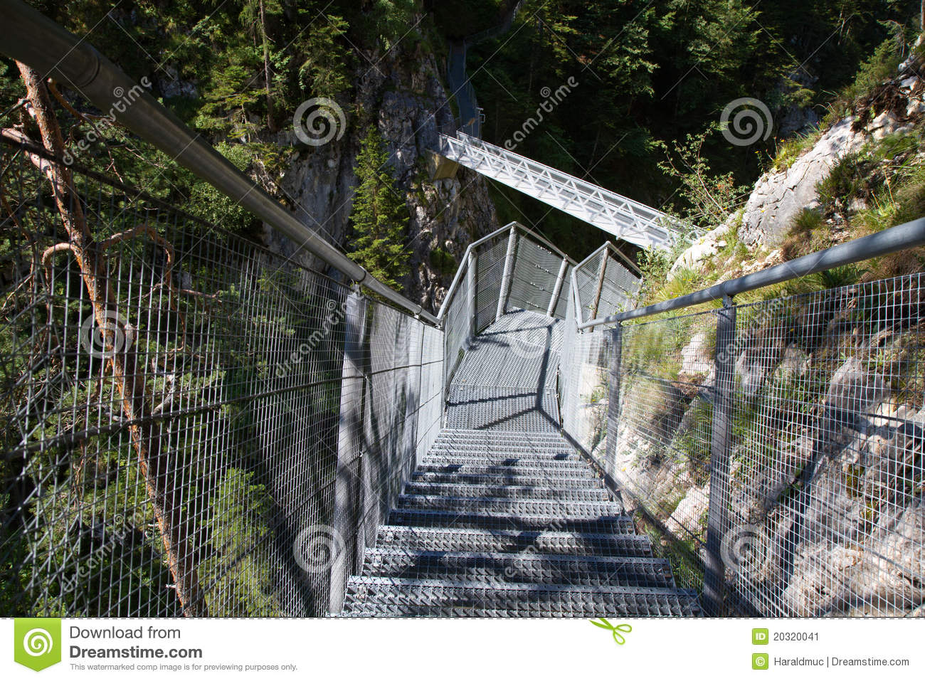 Leutasch Gorge In The German Alps Stock Image.