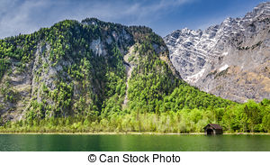 Stock Photography of Leutasch Gorge in the German alps, Bavaria.