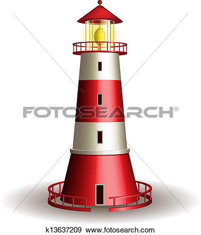Clipart of Lighthouse k14203330.
