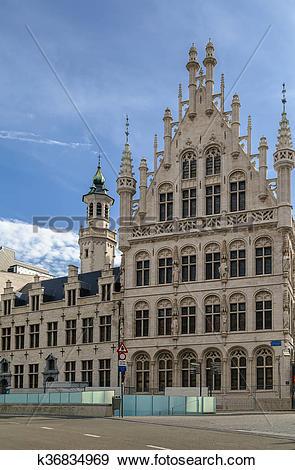 Stock Photograph of Tafelrond (round table), Leuven, Belgium.