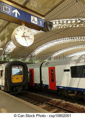 Stock Photography of leuven train station interior and belgium.