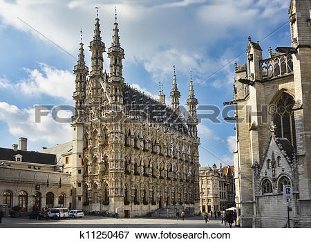 Picture of Town Hall, Leuven, Belgium k11250467.