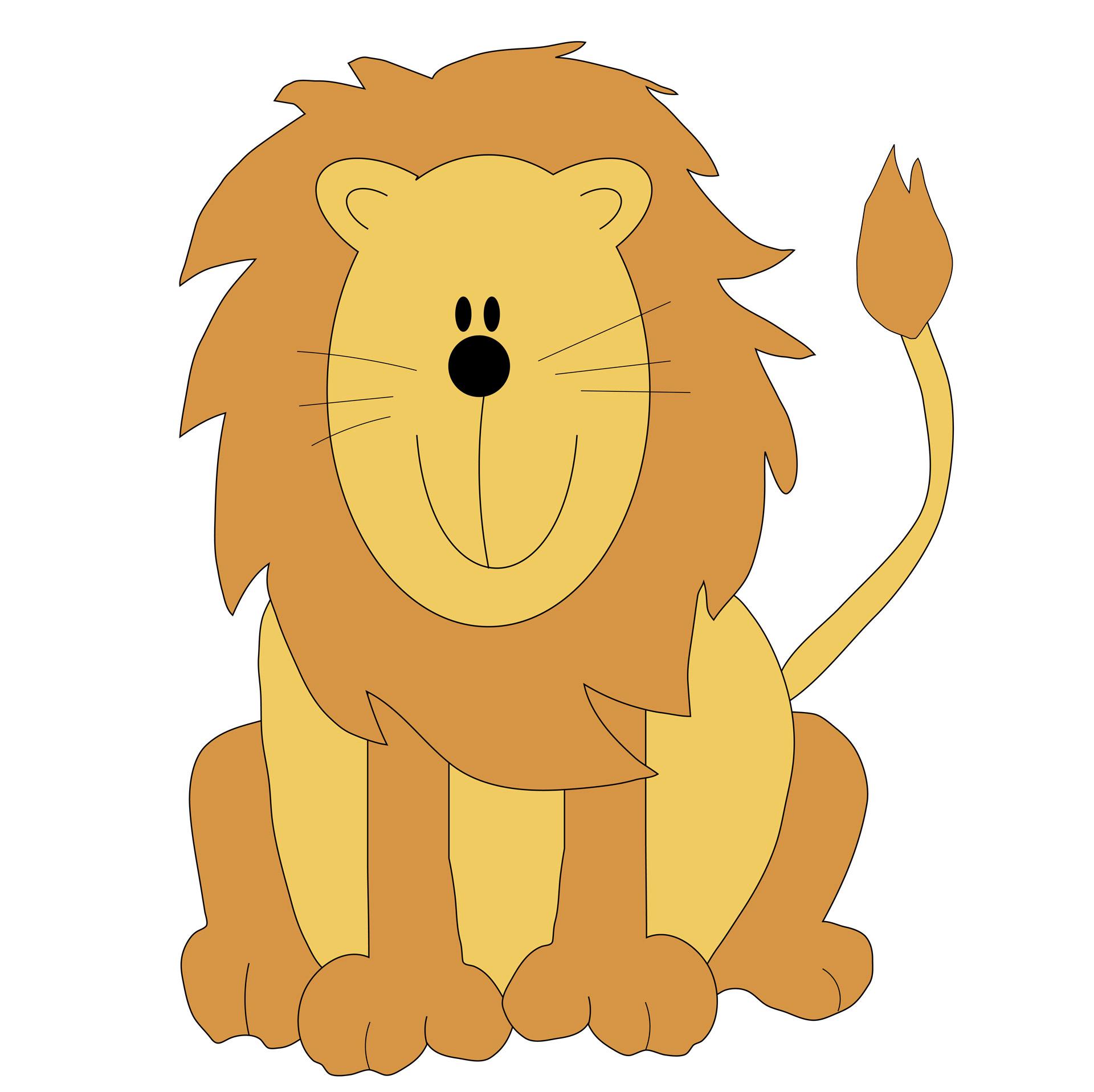 Lion Clip Art Free Stock Photo.