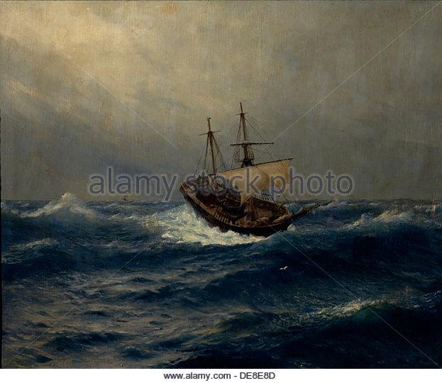 Ship Storm Sea Painting Stock Photos & Ship Storm Sea Painting.