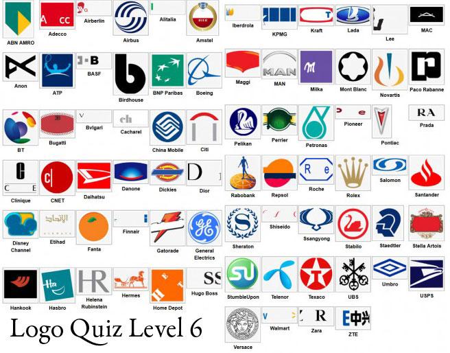 Logo Quiz Answer Level 1 2 3 4 5 6 7 8 9.