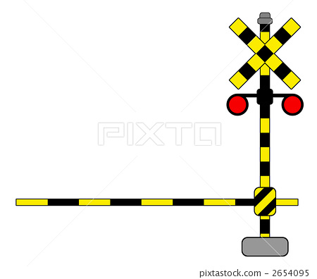 Railroad Crossing Gates Clipart.