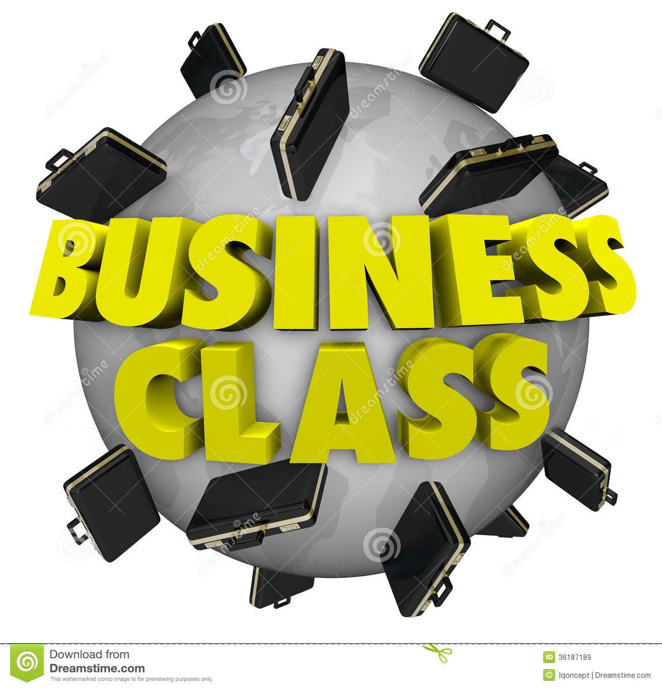 Business Class Briefcases Around World First Class Travel Flight.