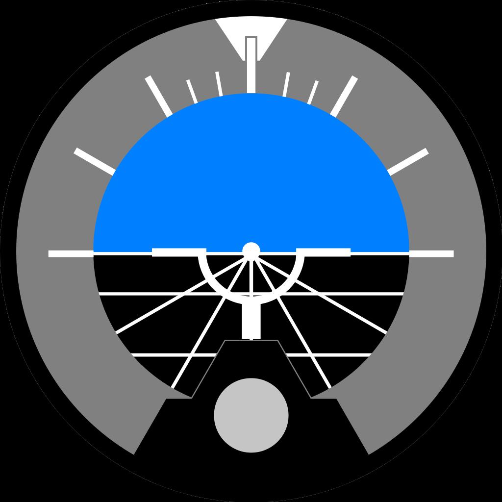 File:Attitude indicator level flight.svg.