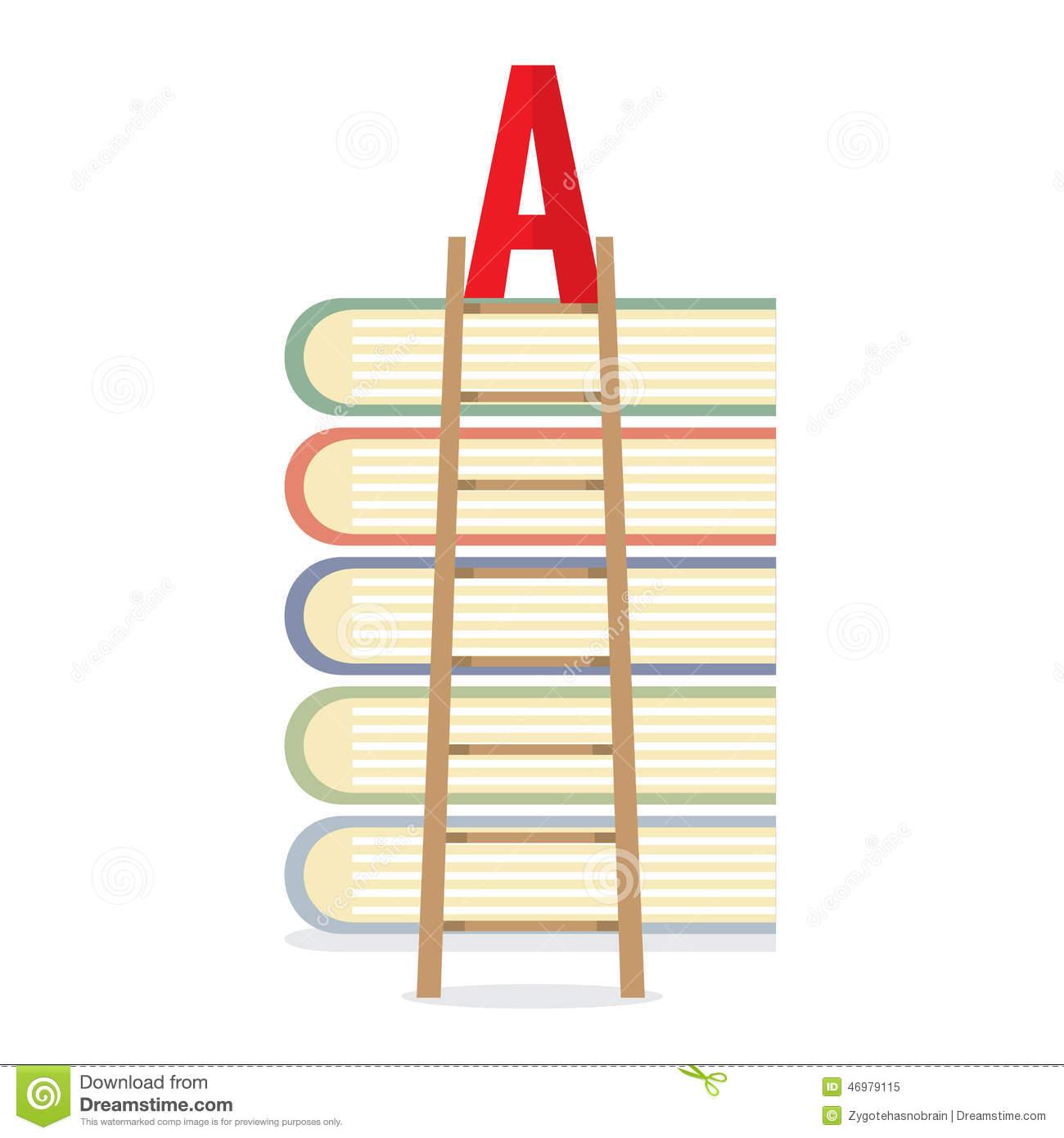 Ladder Lean On Books Toward A.