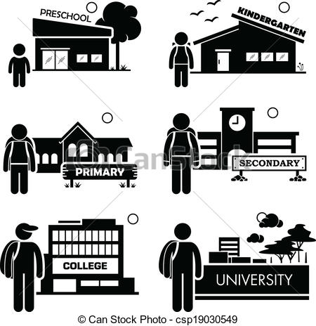 EPS Vector of Student Education Level Icon.