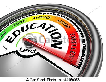 Stock Illustrations of education level conceptual meter indicate.