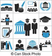 Vector Clip Art of Education high school icons..
