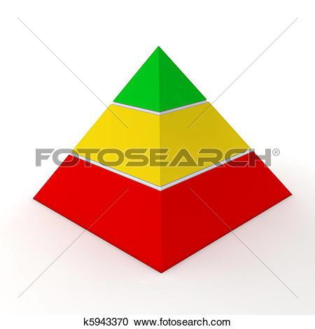 Stock Illustration of Multicolour Pyramid Chart.