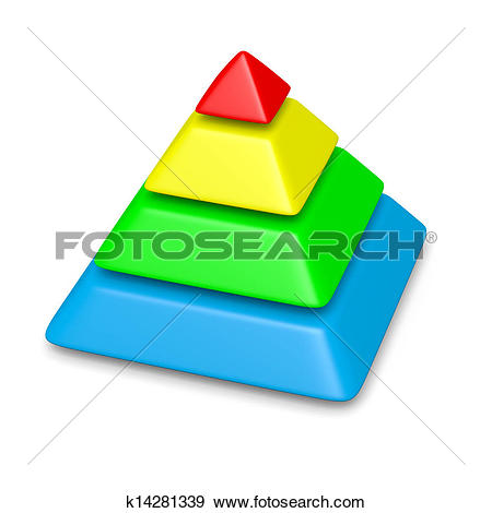 Clip Art of 6 levels pyramid structure environment concept.