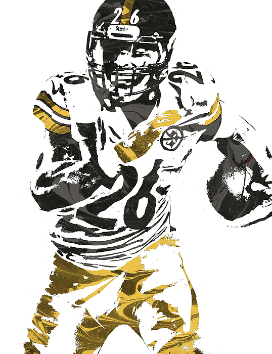 Le Veon Bell Pittsburgh Steelers Pixel Art 2 Carry.