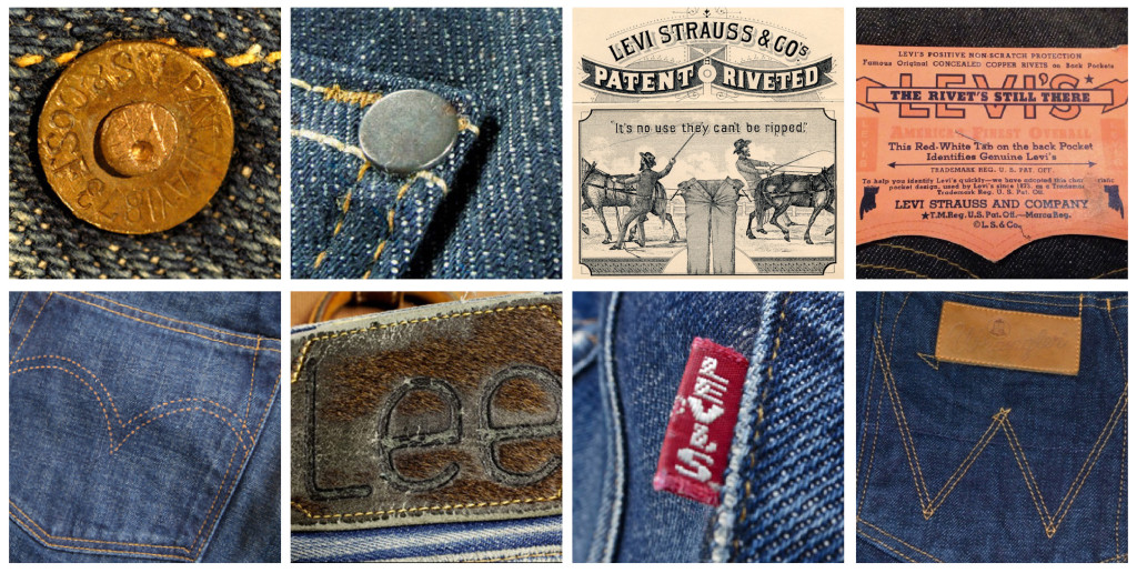 Denim Branding:Levi\'s Jeans rich history of graphics and design.