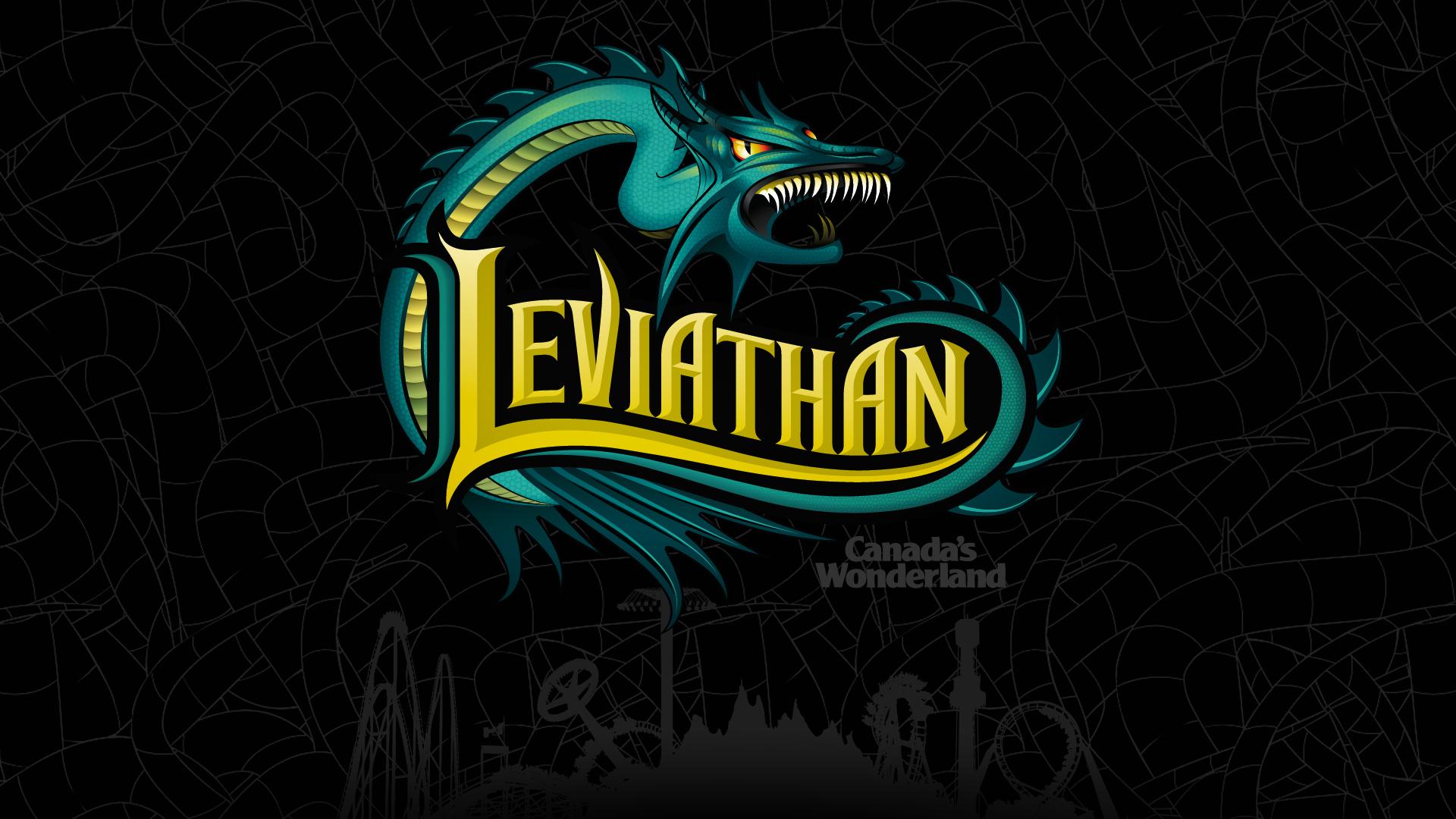 Leviathan Logo from Canada\'s Wonderland Desktop Wallpaper.