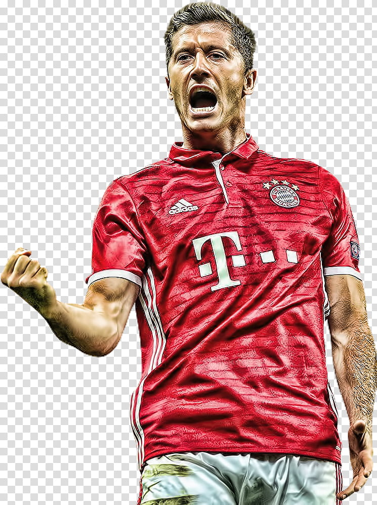 Robert Lewandowski topaz transparent background PNG clipart.