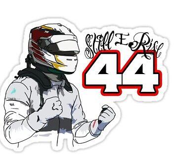 Lewis Hamilton Still I Rise Sticker\