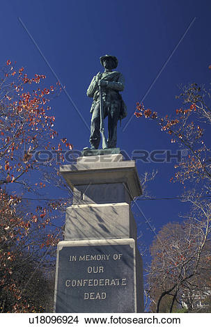Stock Photo of soldier, confederacy, monument, Lewisburg, WV, West.