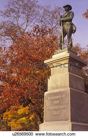 Stock Photography of West Virginia, Confederate Memorial in.