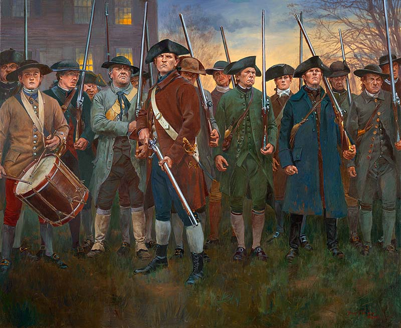 Shot Heard Round The World Start of American Revolution 1775.