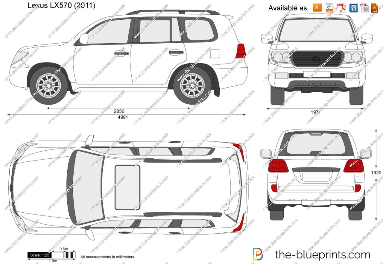 Lexus LX570 vector drawing.
