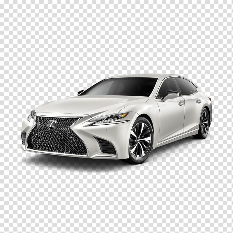 2018 Lexus LS 500 F Sport Car Test drive, car transparent.
