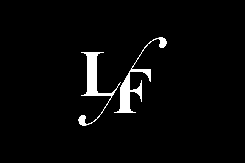LF Monogram Logo design By Vectorseller.