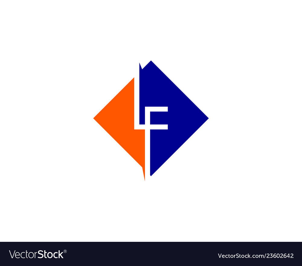 Initial letter lf logo template design.