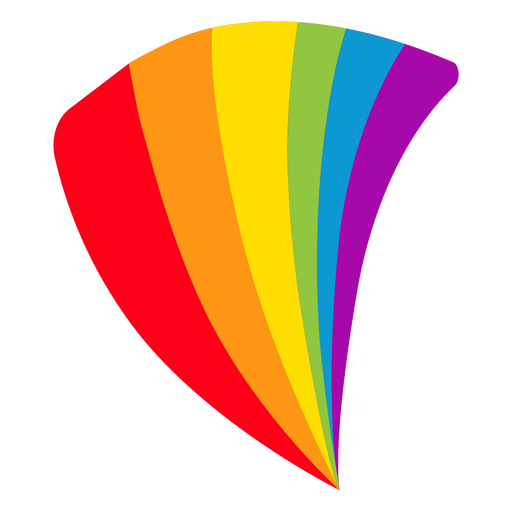 Flag fan rainbow lgbt sticker.