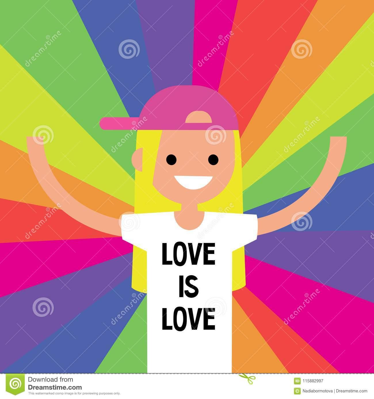 LGBTQ Rainbow. LGBT Rights Conceptual Illustration / Flat.