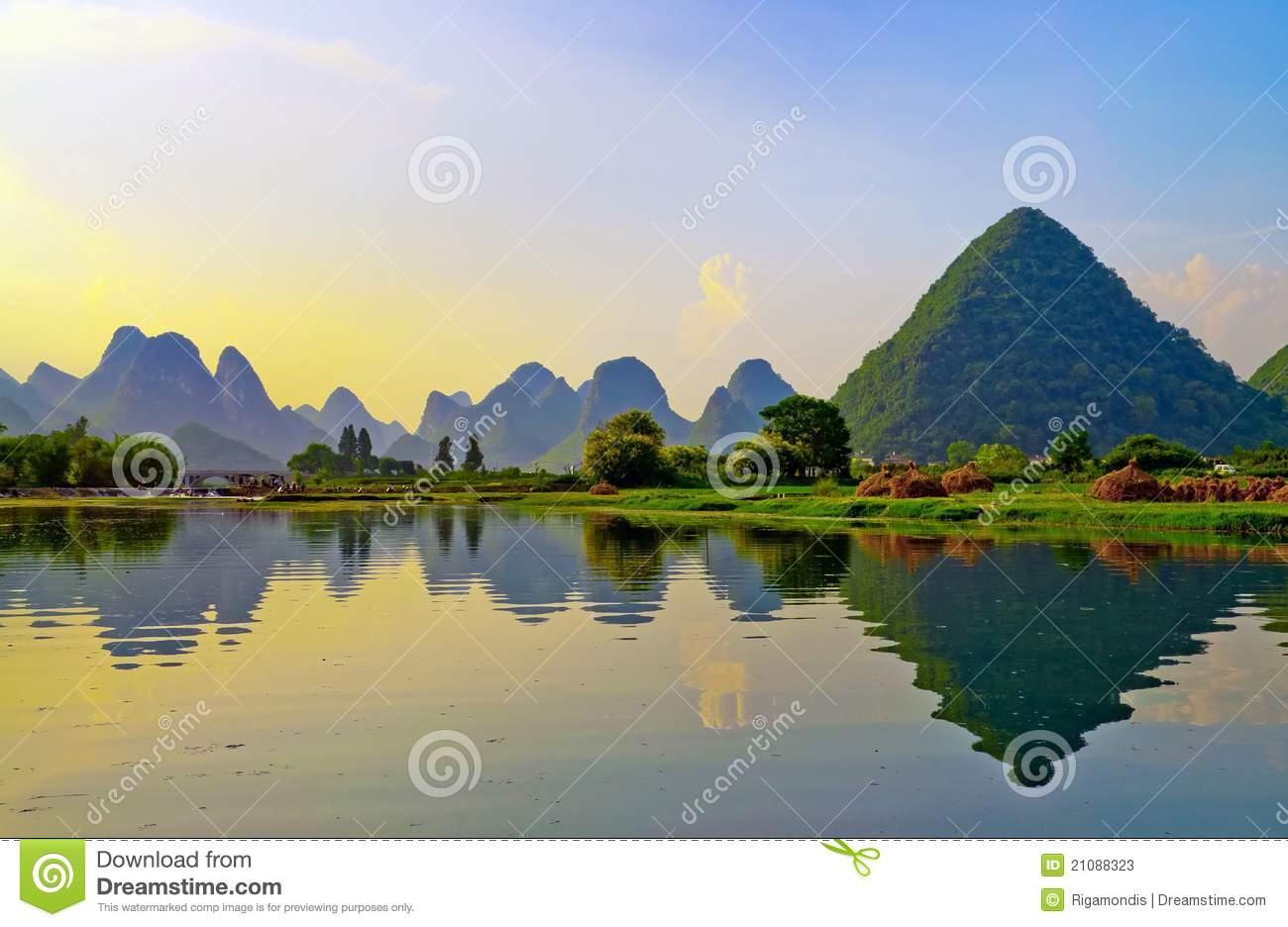 Li River In Yangshuo Stock Photos.