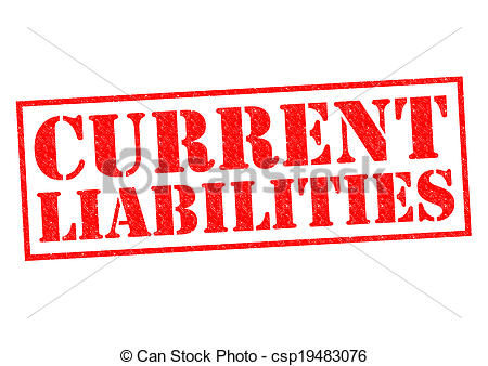Stock Illustrations of CURRENT LIABILITIES red Rubber Stamp over a.