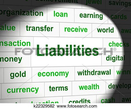 Clip Art of Owe Liabilities Means Bad Debt And Arrears k22329582.