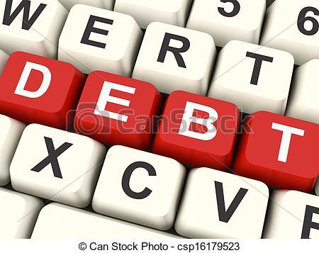 Clip Art of Debt Keys Mean Liability Or Financial Obligation.